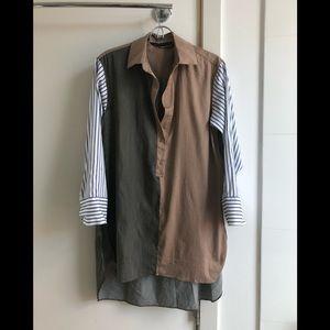 Zara oversized striped shirt / shirt dress